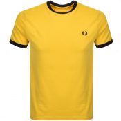 Product Image for Fred Perry Ringer T Shirt Yellow