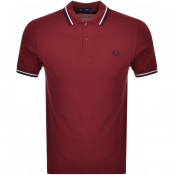 Product Image for Fred Perry Twin Tipped Polo T Shirt Burgundy