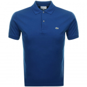 Product Image for Lacoste Short Sleeved Polo T Shirt Blue