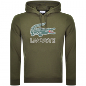 Lacoste Pullover Logo Hoodie Green