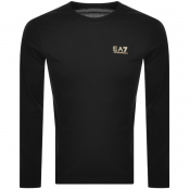EA7 Emporio Armani Long Sleeved Core T Shirt Black