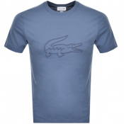 Product Image for Lacoste Crew Neck Logo T Shirt Blue