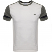 Lacoste Crew Neck Logo T Shirt Cream