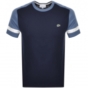 Product Image for Lacoste Crew Neck Logo T Shirt Navy
