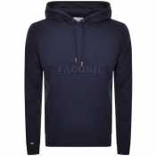 Lacoste Pullover Logo Hoodie Navy