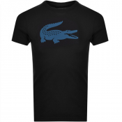 Product Image for Lacoste Sport Crew Neck Logo T Shirt Black