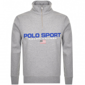 Product Image for Ralph Lauren Half Zip Logo Sweatshirt Grey