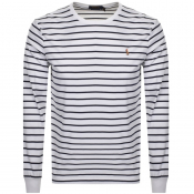 Ralph Lauren Long Sleeved Crew Neck T Shirt White