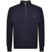 Ralph Lauren Long Sleeve Half Zip Sweatshirt Navy
