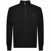 Product Image for Ralph Lauren Long Sleeve Half Zip Sweatshirt Black