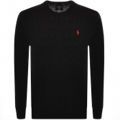 Ralph Lauren Cable Knit Jumper Black