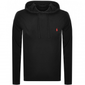 Product Image for Ralph Lauren Long Sleeved Hooded T Shirt Black