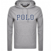 Product Image for Ralph Lauren Long Sleeved Hooded T Shirt Grey