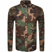 Product Image for Ralph Lauren Long Sleeved Shirt Camo Green