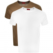 Product Image for HUGO 2 Pack Crew Neck T Shirt Khaki