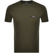 Emporio Armani Pocket Logo T Shirt Green