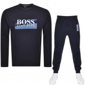 BOSS HUGO BOSS Crew Neck Tracksuit Navy