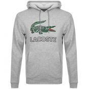 Lacoste Pullover Logo Hoodie Grey