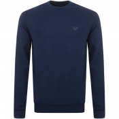 Product Image for Emporio Armani Crew Neck Sweatshirt Blue