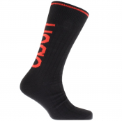 Product Image for HUGO Logo Boot Socks Black
