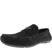 Product Image for Emporio Armani Suede Driver Shoes Black