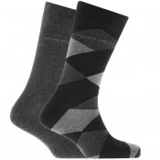BOSS HUGO BOSS Two Pack Socks Grey