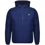 Lacoste Sport Hooded Jacket Blue