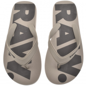 Product Image for G Star Dend Logo Flip Flops Grey