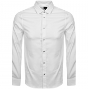Product Image for Armani Exchange Long Sleeved Slim Fit Shirt White