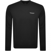 Product Image for Armani Exchange Crew Neck Logo Sweatshirt Black