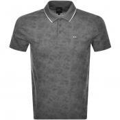 Armani Exchange Short Sleeved Polo T Shirt Grey