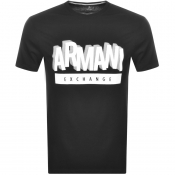 Armani Exchange Crew Neck Logo T Shirt Black
