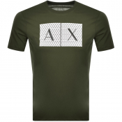 Armani Exchange Crew Neck Logo T Shirt Green