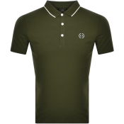 Armani Exchange Short Sleeved Polo T Shirt Green