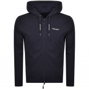 Product Image for Armani Exchange Logo Full Zip Hoodie Navy