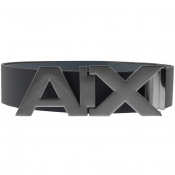 Product Image for Armani Exchange Logo Belt Navy