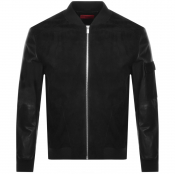 Product Image for HUGO Lunis Leather Jacket Black