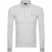 Armani Exchange Long Sleeved Polo T Shirt Grey
