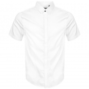 Product Image for Armani Exchange Short Sleeved Slim Fit Shirt White