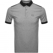 Armani Exchange Two Tone Polo T Shirt Black
