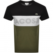 Lacoste Sport Colour Block Logo T Shirt Black
