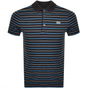 Lacoste Sport Stripe Polo T Shirt Black