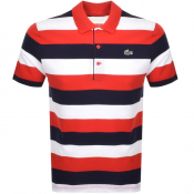 Product Image for Lacoste Sport Stripe Polo T Shirt Red