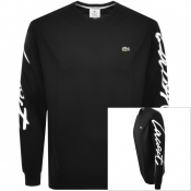 Product Image for Lacoste Live Long Sleeved Logo T Shirt Black