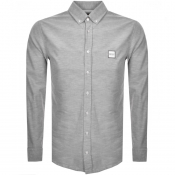 BOSS Casual Long Sleeved Mabsoot Shirt Grey
