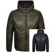 Emporio Armani Reversible Down Jacket Khaki