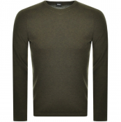 Product Image for BOSS Casual Kamyo Knit Jumper Khaki