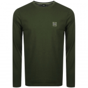 BOSS Casual Long Sleeved Tacks T Shirt Khaki