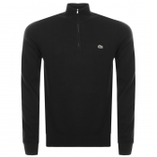 Product Image for Lacoste Half Zip Knit Sweatshirt Black