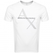 Armani Exchange Crew Neck Logo T Shirt White